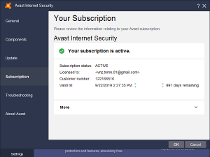 avast internet security key serial