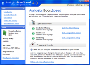 Auslogics Boostspeed Crack 10.0.19.0 With Serial Keys Full Download 2019
